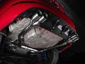 ES#4039584 - 027365ecs0103KT - MK7 Jetta Borla Quad Tip Cat-Back Exhaust System - With ECS Carbon Fiber Rear Diffuser - Enhance your exhaust note while upgrading visual appeal - Assembled By ECS - Volkswagen
