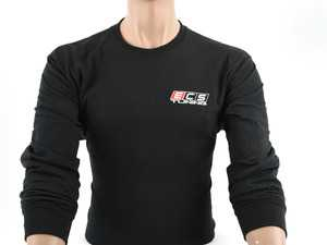 ES#4023693 - 6060752 - Black ECS Long Sleeve T-Shirt - Medium - Featuring full color ECS Tuning logo on left chest and full back - ECS - Audi BMW Volkswagen Mercedes Benz MINI Porsche