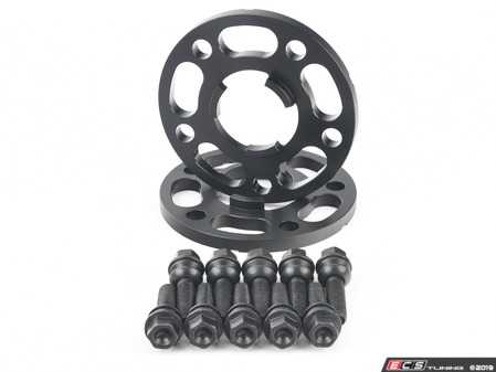 ES#3613675 - ls-1012mmKT -  Rennline Wheel Spacer Kit - 12mm  - Includes one pair of 12mm spacers and black zinc coated extended-length lug bolts for your Porsche - Rennline - Porsche