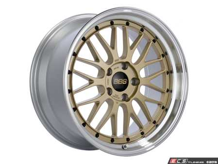 "ES#4040240 - lm283dgpkKT - 20"" Style LM 283 Wheels - Gold - Square Set Of Four - 20x9 5x120 ET20 PFS. Gold center with a diamond cut lip. - BBS - BMW"