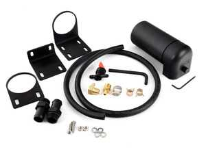 ES#4040043 - 003779ecs05-01KT -  Universal ECS Tuning Baffled Oil Catch Can Kit (8oz) - Capture harmful oil vapors and keep your intake tract clean. Includes our universal catch can, brackets, fittings and drain kit. Everything you need except plumbing to your engine. - ECS - Audi Volkswagen