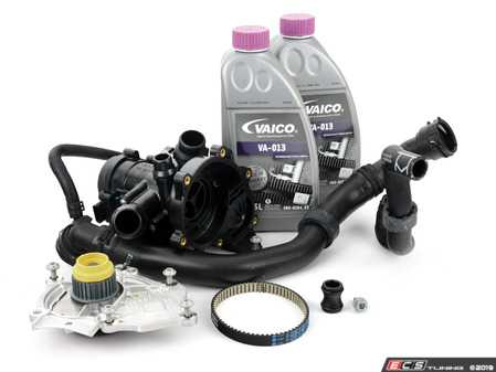 ES#3651375 - 06k121011cKT - Cooling System Refresh Kit - Level 1 - This entry level kit includes thermostat, waterpump, complete upper radiator hoses and coolant - Assembled By ECS - Volkswagen