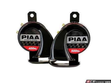 ES#3477420 - 85110 - Bass Tone Sports Horn Kit 400Hz + 500Hz, 115Db - Automotive Sports Horns - PIAA - Audi BMW Volkswagen Mercedes Benz MINI Porsche