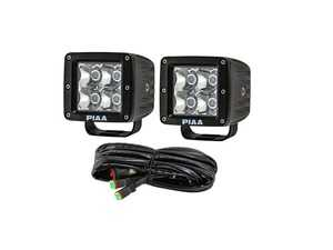 ES#3477292 - 26-06603 - Quad Series LED Cube Light Kit in Spot Beam w/ Harness - Spot Beam LED Cube Lights - PIAA - Audi BMW Volkswagen Mercedes Benz MINI Porsche