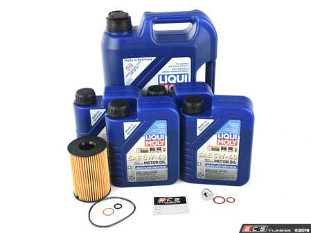 ES#3658951 - 83212365945KT5 - Liqui Moly Longtime High Tech Oil Change Kit / Inspection I - Everything you need for a comprehensive oil service, including Liqui Moly oil and Hengst filter - Assembled By ECS - BMW