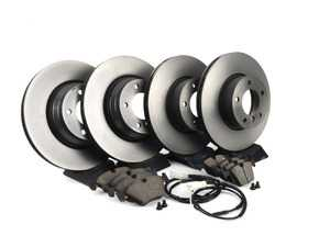 ES#4039735 - e9x330xirpsKT - Front And Rear Brake Service Kit - Featuring Brembo rotors and pads - Assembled By ECS - BMW