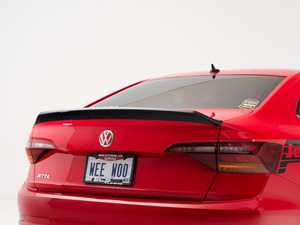 ES#3660011 - 027379ECS01 - MK7 Jetta Trunk Spoiler - Gloss Black ABS  - Add a touch of style to your VW - ECS - Volkswagen