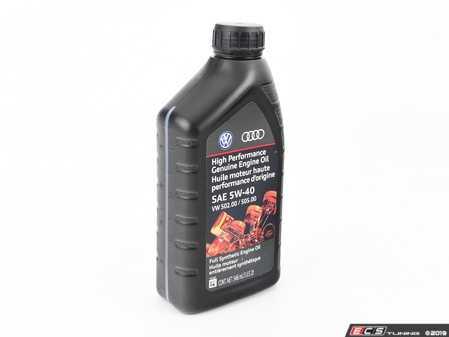 ES#4030775 - GE555401QDSP - High Performance Genuine Engine Oil (5w-40) - 1 Quart - Meets Volkswagen & Audi 502.00 / 505.00 specification - Genuine Volkswagen Audi - Audi Volkswagen