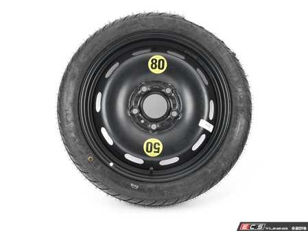 """ES#4004698 - 3611685150611570 - 15"""" Emergency Spare Wheel/Tire Set - Includes Genuine MINI 15x3.5"""" ET28 steel wheel with mounted and balanced Kumho 115/70/15 tire. - Assembled By ECS - MINI"""