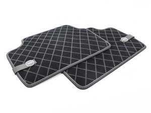 ES#2787405 - 51472358060 - Essentials Rear Carpet Factory Floor Mats Set Black - Priced As Set - Replace or upgrade to factory MINI mats - Genuine MINI - MINI