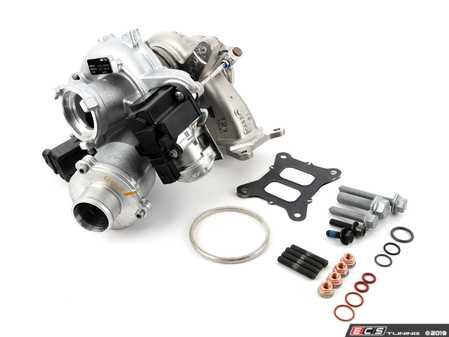 ES#4039953 - 06k145722hktKT3 - IS38 Turbocharger - With Installation Kit - Complete turbocharger assembly with necessary hardware/gaskets for a comprehensive installation - Assembled By ECS - Audi Volkswagen