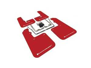 ES#4003938 - MF42-UR-RD/WH - Mud Flap Kit - Red With White Logo  - Durable, polyurethane mud flaps - Rally Armor - Volkswagen