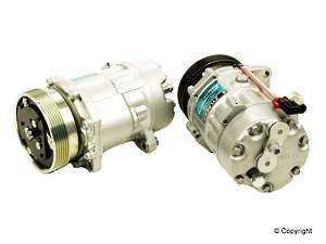 ES#252408 - 1h0820803d - A/C Compressor Brand New W/Clutch - Brand new unit, not rebuilt - Sanden - Volkswagen