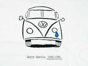 ES#252124 - 22796LG - White Crying Bus T-Shirt - Large - A walking tribute to the late Jerry Garcia - DriverGear - Volkswagen