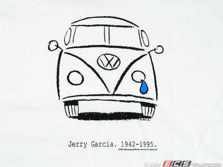 ES#1884200 - 22796xXL - White Crying Bus T-Shirt - 2XL - A walking tribute to the late Jerry Garcia - DriverGear - Volkswagen
