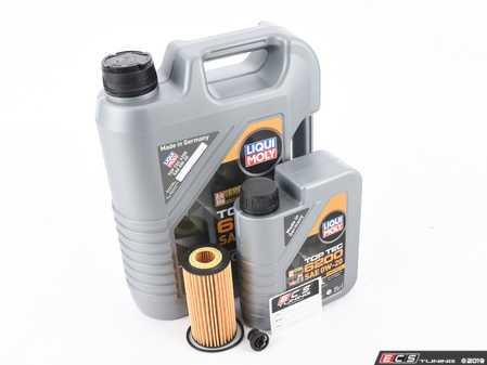 ES#4006971 - 06L115562KT17 - Liqui Moly Top Tec Oil Service Kit (0w-20) - Includes Liqui Moly Top Tec 6200 508.00/509.00 0w-20 oil, filter and drain plug for a complete oil service - Assembled By ECS - Volkswagen