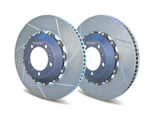 ES#4045714 - A2-146 - Rear 2-Piece Floating Slotted Rotors - Pair (380mm) - Upgrade your brakes with lightweight, high-performance OE-sized replacement discs - The factory brake bias is maintained along with ABS efficiency. - Girodisc - Porsche