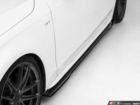ES#4045736 - 024716ecs02KT - Audi B8/B8.5 A4/S4 Flat Side Skirts - Gloss Black - Enhance your side profile with an aggressive look! - ECS - Audi