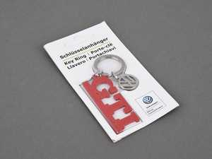 """ES#4001746 - DRG008938 - GTI Keychain With Charm - Features red GTI logo with stamped """"Since 1976"""" text and a VW logo charm - Genuine Volkswagen Audi - Volkswagen"""