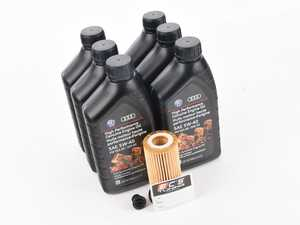 ES#2776767 - 06l115562KT - Genuine Oil Service Kit (5w-40) - Includes 5w-40 Genuine oil, filter and drain plug - Genuine Volkswagen Audi - Audi Volkswagen