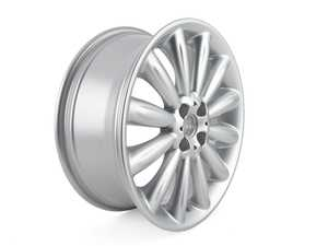 "ES#1877246 - 36116795455 - R116 MINI Infinite Stream Wheel 17"" (4x100) Silver - Priced Each - 17 x 7J ET:48 - Genuine MINI - MINI"