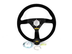 ES#3135821 - R1909/35S - MOMO MOD.78 Steering Wheel - 350mm - Customize your driving experience with this fine black suede steering wheel - MOMO - Audi BMW Volkswagen Mercedes Benz MINI Porsche