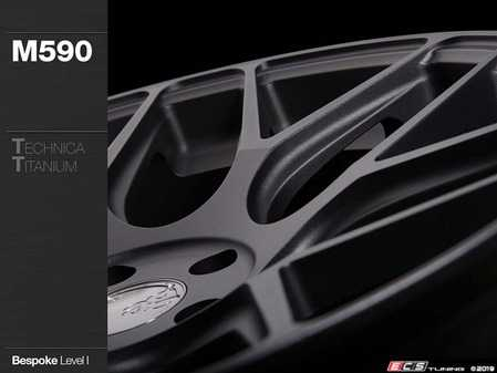 "ES#4056181 - m590msm88819KT1 - 19"" M590 Wheels - Set Of Four - 19""x9.5"" ET25 5x112 - *Bespoke Level 1 Finish* - Technica Titanium Powdercoat - Avant Garde - Audi Volkswagen"