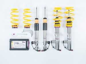 ES#4056271 - 39080055 - KW DDC Plug & Play V3 Coilover Kit - The KW Dynamic Dampening Control (DDC) coilover kit gives you all the control you could ever want. With a click of a button you get individual lowering and three different damper setups. - KW Suspension - Volkswagen