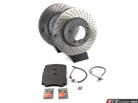 ES#2598346 - 99635140904FOKT - Front Brake Service Kit - Featuring Sebro rotors and Textar brake pads - Assembled By ECS - Porsche
