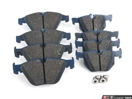 ES#3575829 - 34216855004XDKT - OE+ Front & Rear Brake Service Kit - Featuring Zimmermann Cross drilled rotors and Cool Carbon S/T Performance Brake Pads - Assembled By ECS - BMW