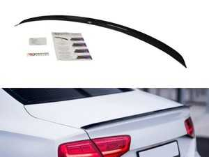 ES#4057251 - AU-A8-D4-CAP1T - Rear Trunk Spoiler Cap - Textured Black  - Add aggressive looks to your Audi with this quality ABS trunk spoiler - Maxton Design - Audi