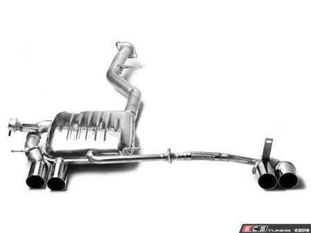 ES#4057404 - B5351.20764 - Race Muffler W/ Quad 76mm Polished Tips - Eisenmann -