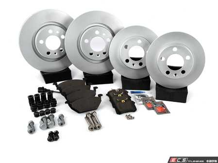 ES#257395 - 1J0698026 - Front & Rear Brake Service Kit (280x22/232x9) - Featuring Meyle rotors with Centric Premium Ceramic pads - Assembled By ECS - Volkswagen