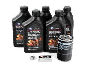 ES#2526505 - 06A998561KT - Oil Service Kit - Includes standard OE oil filter and OEM 502.00/505.00 High Performance Genuine Engine Oil (5w-40) oil - Genuine Volkswagen Audi - Audi