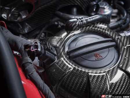 ES#4067034 - 020807ECS01 -  Build-Your-Own Carbon Fiber Expansion Tank Cover Kit - Select your own expansion tank cover color and cap to enhance your engine bay - ECS - Audi Volkswagen