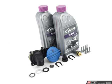 ES#3660706 - 8k0129669ktKT - Cooling System Refresh Kit  - Replace your thermostat, temp sensor and expansion tank with one kit! - Assembled By ECS - Audi