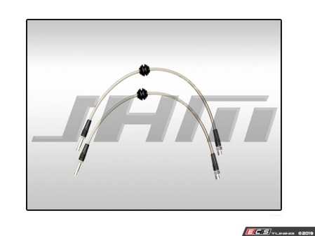 ES#4046125 - JHM-SBLK1325F - Front Stainless Steel Brake Line Kit - High-Quality, DOT approved stainless brake lines to replace the factory hoses on your S4/S5 - JH Motorsports  - Audi