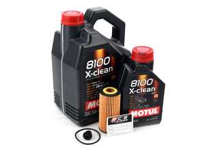 ES#2777506 - 06L115562KT1 - Motul Oil Service Kit (5w-40) - Includes Hengst oil filter and Motul 5W-40 Synthetic engine oil - Assembled By ECS - Audi Volkswagen