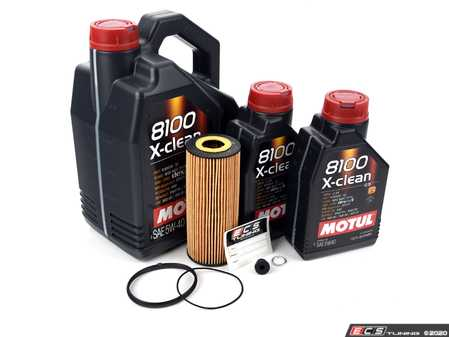 ES#3125751 - 06E115562AKT1 - Oil Service Kit - Premium  - Includes Hengst oil filter, drain plug/washer, and 7 liters of Motul 5w-40 oil - Assembled By ECS - Audi