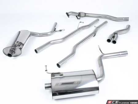 """ES#2827429 - SSXAU305 - Cat-Back Exhaust System - Non-Resonated - 2.5"""" stainless steel with dual 100mm polished tips - Milltek Sport - Audi"""