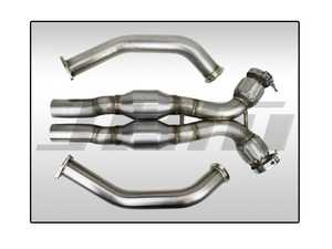 ES#4046006 - JHM-B8DPXHFC - JHM High Flow Cat Downpipes With X-pipe - Non-Resonated - Built as a direct OEM replacement, these downpipes are designed to increase low-end torque and maximize power throughout the entire RPM band - JH Motorsports  - Audi