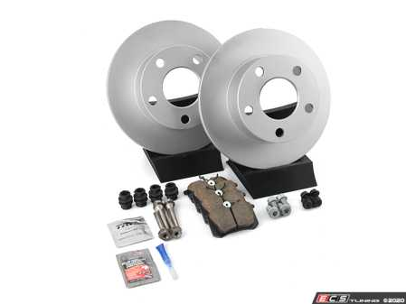 ES#1899336 - 8e0698016 - Rear Brake Service Kit - Includes Meyle Rotors & Akebono Pads - Assembled By ECS - Volkswagen