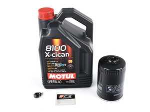 ES#261635 - PRMOIL1 -  Oil Service Kit - With ECS Magnetic Drain Plug - Includes large Mann oil filter and Motul 5w-40 oil - Assembled By ECS - Audi Volkswagen