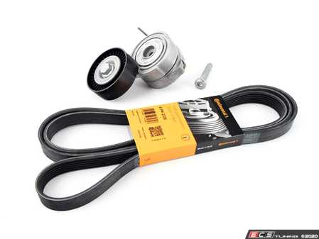 ES#3690231 - 06e903133aektKT - Accessory Belt Kit W/ Tensioner  - Keep your accessories running properly with a new tensioner and drive belt - Assembled By ECS - Audi