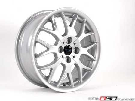 """ES#65024 - 36116775855 - R90 Alloy Wheel 16"""" (4x100) - Silver - Priced Each - 16 X 6.5 J ET:48 Cromodora Wheels : Made in Italy : Formerly Made by BBS - Genuine MINI - MINI"""