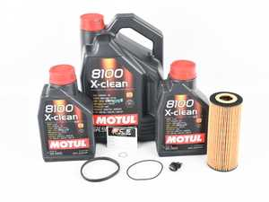 ES#3125753 - 06E115562AKKT -  Oil Service Kit - Premium - With ECS Magnetic Drain Plug - Includes Hengst oil filter, magnetic drain plug/washer, and 7 liters of Motul 5w-40 oil - Assembled By ECS - Audi