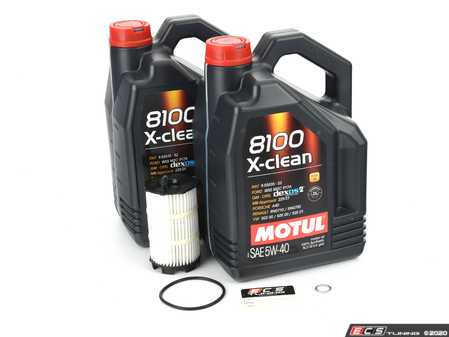 ES#2827135 - 842451motKT - Oil Service Kit - Premium - Includes 10 liters of Motul 5w-40 synthetic oil, filter, and drain plug sealing washer - Assembled By ECS - Audi