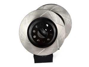 ES#4043227 - EMD-31022-PR-CHC -  Rear High Carbon Slotted Brake Rotors - Pair (310x22) - High carbon metallurgy for improved performance, heat management and reduced noise - Emmanuele Design - Audi Volkswagen
