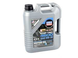 ES#3991621 - 20448 - Top Tec 4600 5W30 Synthetic Motor Oil - 5 Liter - Suitable for gasoline and diesel vehicles with and without particulate filter & exhaust gas turbo chargers - Liqui-Moly - BMW Mercedes Benz