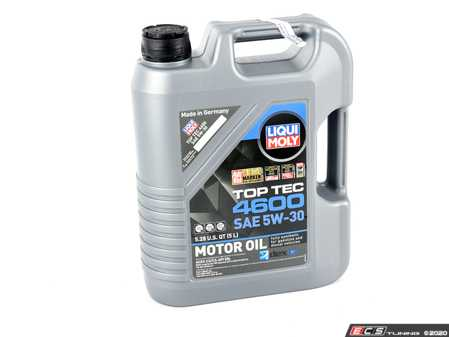 ES#3991621 - 20448 - Top Tec 4600 Synthetic Engine Oil (5w-30) - 5 Liter - Suitable for gasoline and diesel vehicles with and without particulate filter & exhaust gas turbo chargers - Liqui-Moly - BMW Mercedes Benz